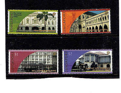 Singapore 1998 Set of 4, Historical Buildings. SG971-974. UnMounted Mint.