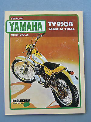 Yamaha Trial Ty250B Motor Cycle  Workshop Manual