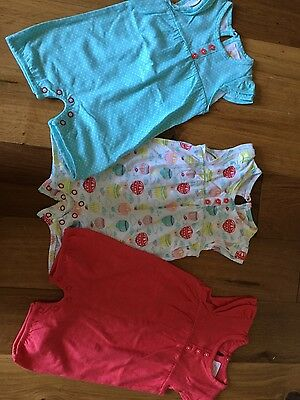 Baby Girls 3 Pack Summer Playsuits 0-3m Tu BN