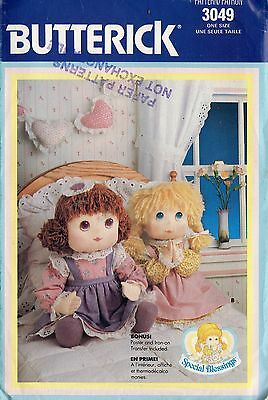 Special Blessings Dolls.. BUTTERICK 3049....Pattern UnCut