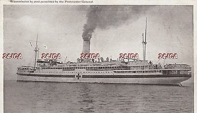 Her Majesties Australian Transport Real Photo. HMAT Warilda Hospital Ship. c1918