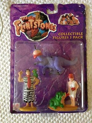 The Flintstones Collectible Figures 3 Pack - Mattel 65906 - Sealed on Card