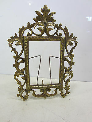 Vintage Ornate French Style Brass Picture Frame