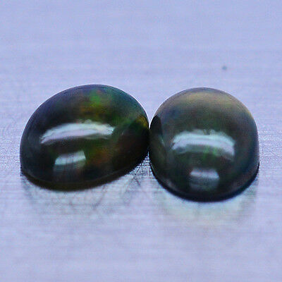 1.88 Ct Natural! Pair! Fancy Clr Play Opal Oval Cabochon Ethiopia Superior