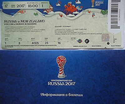 mint TICKET & Info Confed Cup 17.6.2017 Russland - Neuseeland # Match 1