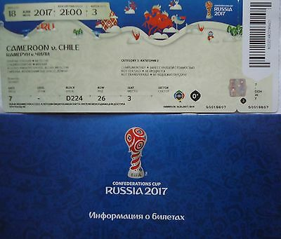 mint TICKET & Info Confed Cup 18.6.2017 Cameroon - Chile # Match 3