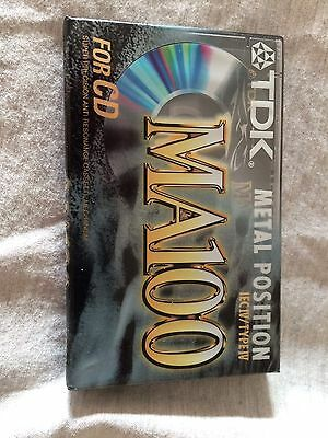 Tdk Ma 100 Type Iv Metal Position Blank Cassette Tape - Brand New & Sealed