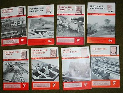 Vintage Oo Railway Modeller Booklets (8) - Now Peco - Very Useful Info
