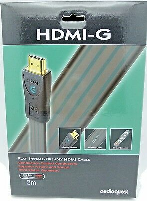 Audioquest HDMI-G 2 meter Flat HDMI Cable Full HD 1080p