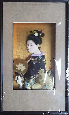 Wall Picture Frame / Oriental Japanese Doll