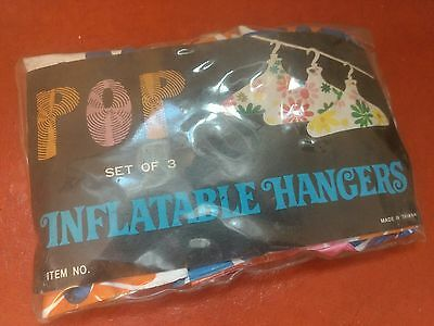 Vintage retro inflatable hangers, new in package