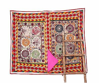 Applique Banjara Neck Yoke Traditional Embrodried Asian art Sewing craft