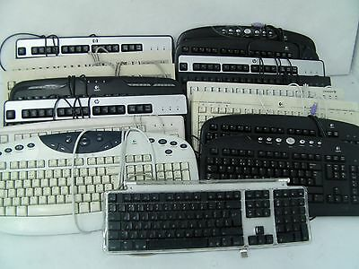 16x PS/2 PC Keyboards QWERTY Black Desktop Computer Office Full Size Numpad USB