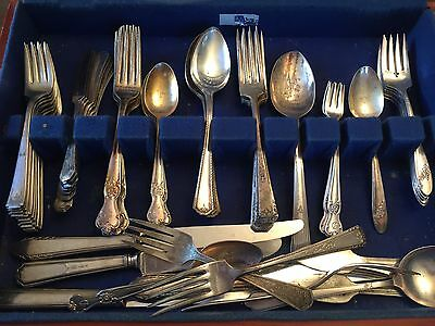 Vintage Large Lot Mixed Silver plate Flatware
