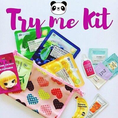 TRY ME KIT KBEAUTY- beauty Bag + maschere in tessuto + samples
