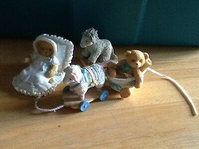 Cherished Teddies Baby Figurine Lot A Baby Blesses Our Hearts plus more
