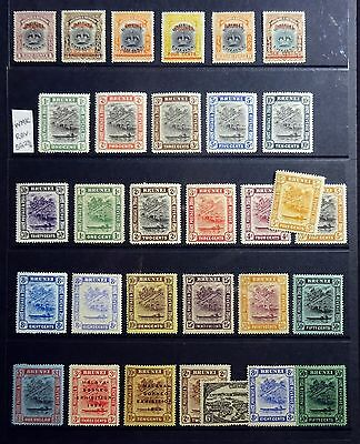 Brunei 1906-1931 in Stockpage, All Mint!!!