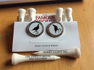 Famous Grouse golf tees and ball marker