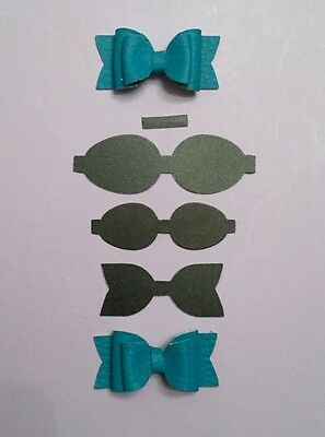 Mini Bow Plastic Template 4 Pieces - Hair Bow/ Crafts