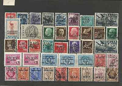 ITALY LOT - OCCUP. OF ITALY TERRITORIES  & COLONiES . 40 STAMPS. MIXED CONDIT: