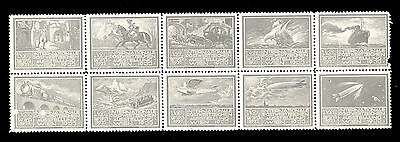 Austria – Wipa 1933, Set Of 10 Vignette. Attractive And Interesting, As Is On