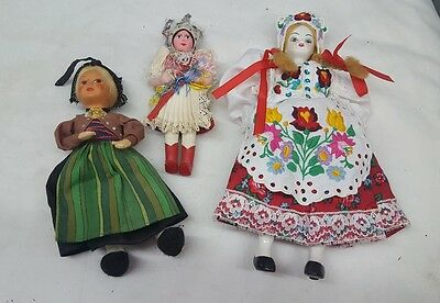 1950's Handmade doll from different Countries lot