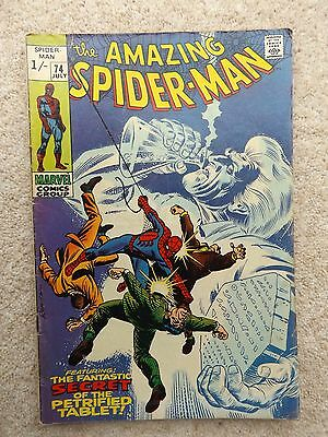 The Amazing Spider-Man # 74 1969 Silver Age Comic Book Marvel