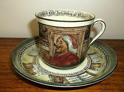 Royal Doulton Seriesware Jackdaw Of Rheims Cup And Saucer