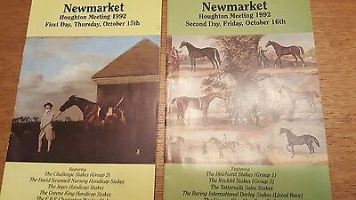 Newmarket Racecards from 1992