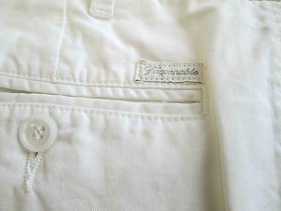 "Faconnable Mens White Chinos Size 34"" x 32"" Barely Used. Perfect for Summer"