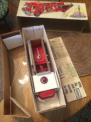 1970 Hess fire truck vintage beautiful not typical ultra rare caution label 1971