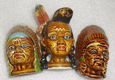 Vintage Indian Salt and Pepper Shakers Lot of 3