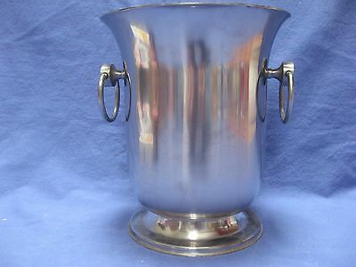 Stainless steel tulip shaped French  Champagne Ice Bucket with Handles