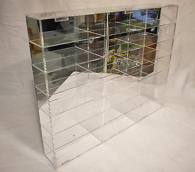 Nascar 21 Diecast Car Display Case 1/24 Scale Acrylic With Mirrored Back