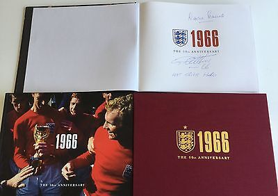1966 THE 50th ANNIVERSARY BOOK SIGNED GEOFF HURST MARTIN PETERS ENGLAND  - PROOF