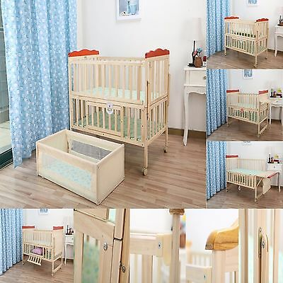 Kids Baby Cot Bed Crib 120 x 60 & 6 Pc Bumper Bed Set Mickie Mouse &Dobby Disney