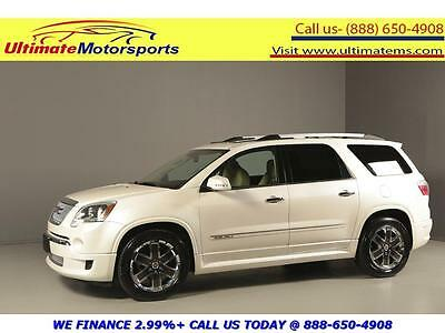 2011 GMC Acadia 2011 DENALI AWD NAV HUD DVD PANO LEATHER HEAT/COOL 2011 GMC ACADIA DENALI AWD NAV HUD DVD PANO LEATHER HEAT/COOL SEATS RCAM WHITE