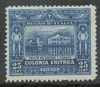 2154 ITALIAN ERITREA 1910 Government Building in Massaua 25C darkblue M/M UNUSED