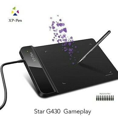 XP-Pen G430 4x3inch Ultrathin Graphic Drawing Tablet for Game OSU + Battery Free