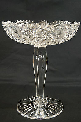 APB American Brilliant Hobstars Strawberry Diamonds & Fans Cut  Crystal Compote
