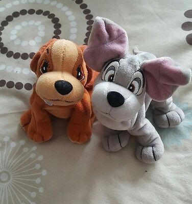 Lady And The Tramp Soft Plush Toys From   Walt Disney Classic