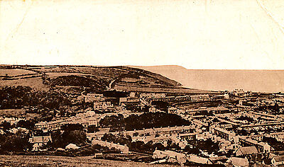 CARDIGANSHIRE - 1917 Aerial RP Postcard of ABERYRON - Posted locally