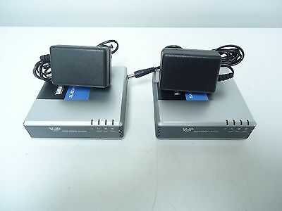 LOT OF 2 Cisco Linksys SPA2102-R Phone Adapter, Router VOIP  *FREE SHIPPING