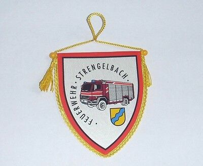 Pennant Fire Feuerwehr Strengelbach Firefighter, Switzerland, Swiss