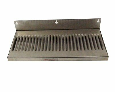 """6"""" x 14"""" Stainless Steel Wall Mount Draft Beer Drip Tray"""