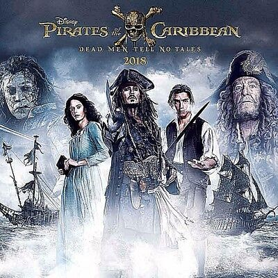 "Pirates Of The Caribbean 2018 Calendar Official With ""free"" Uk Tracked Delivery"