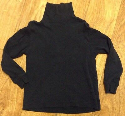 Gap Kids Size S 6-7 Turtleneck Navy Blue Long Sleeve Shirt!