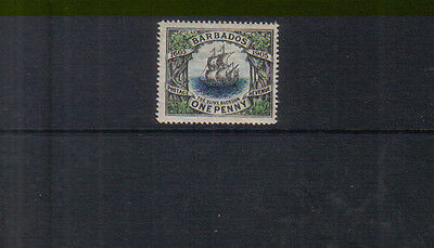 Barbados 1906 Tercentenary 1d very lightly mounted mint