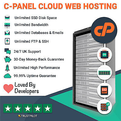 1 Year UK Unlimited cPanel Web / Website Hosting with Free 1 Year .CO.UK Domain