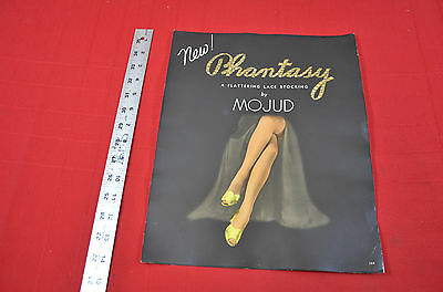 """Mojud Advertising Display poster lace stockings 11 x 14"""" 900"""